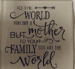 Glass coffee/tea coaster with lovely mother quote